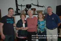DSC_9761.JPG-2014-O-Driscoll-Memorial-Candle-from-Australia-presented-at-Cape-Clear-Museum-